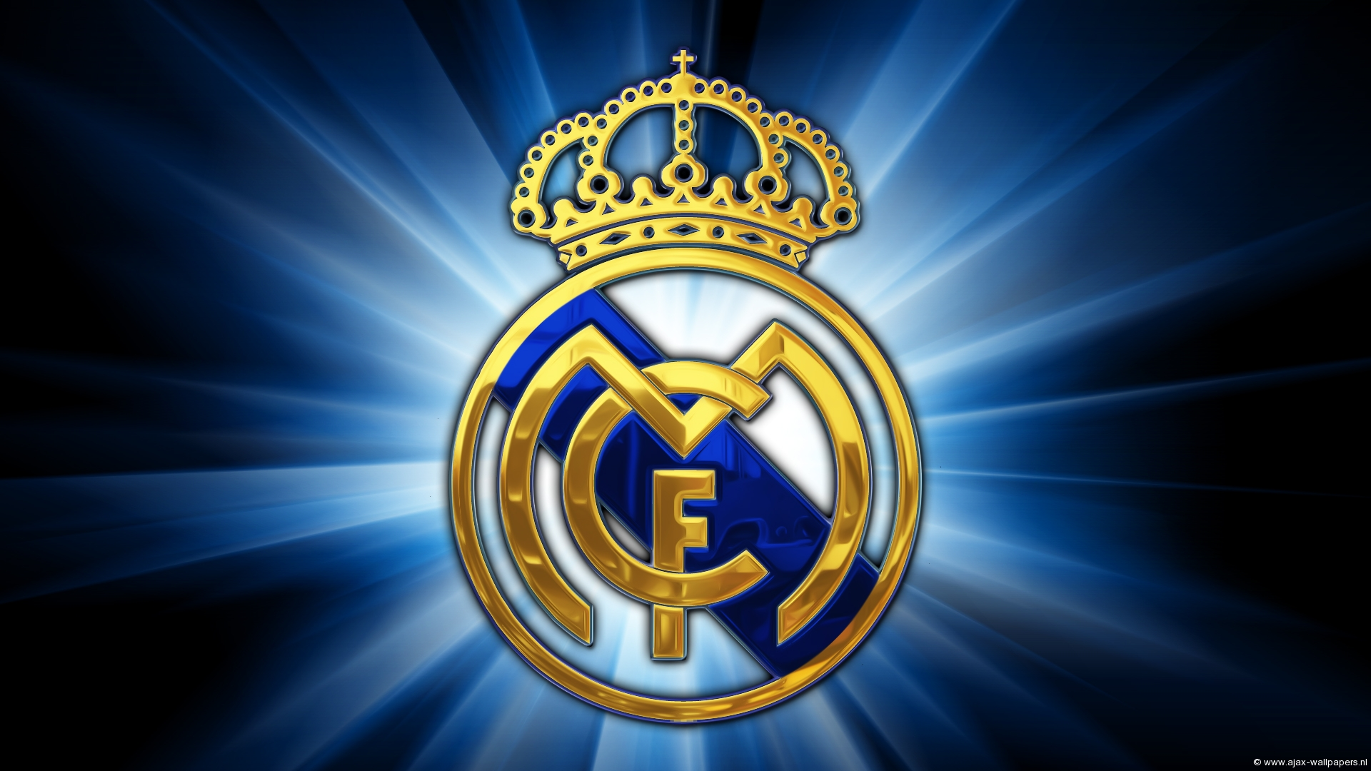 Real Madrid Logo Wallpaper Blue