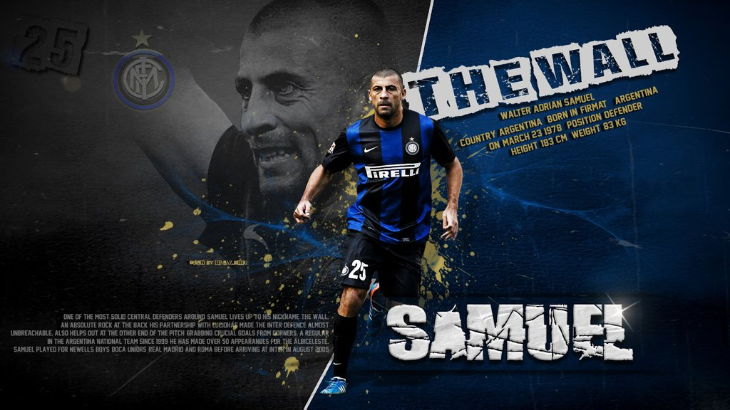 Walter Samuel Inter Milan Wallpapers