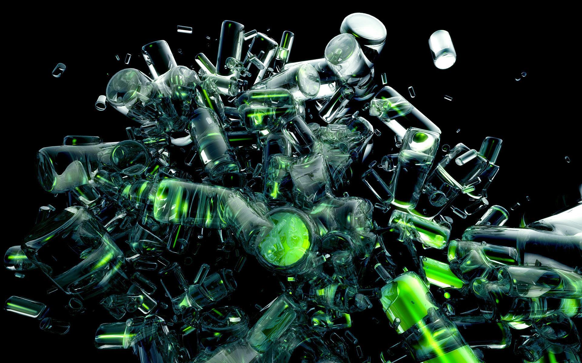 Abstract Wallpaper Green HD