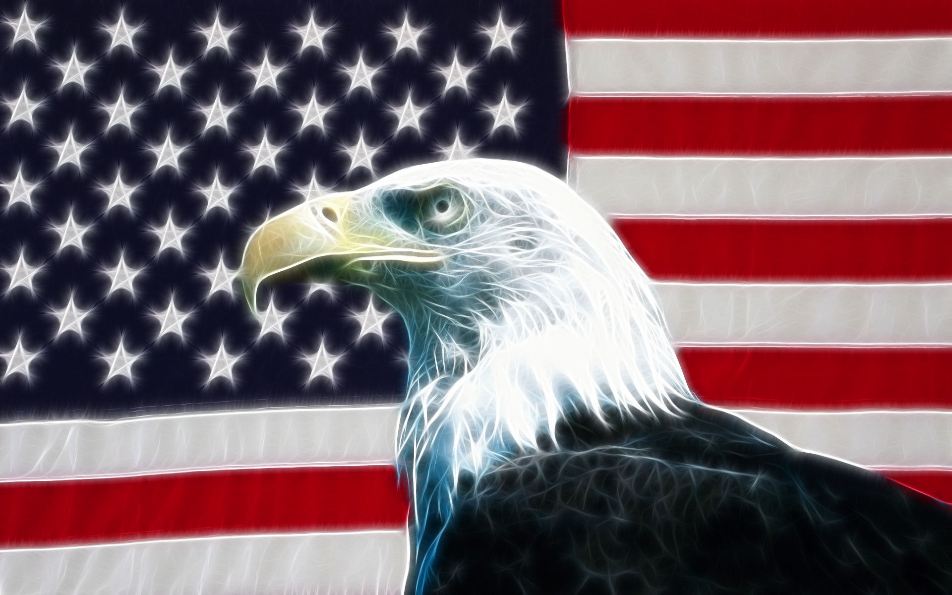 Eagle USA Flag Wallpaper Desktop