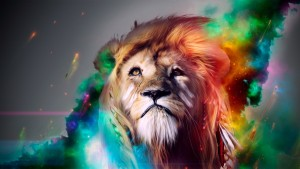 Lion Abstract Wallpaper Desktop HD