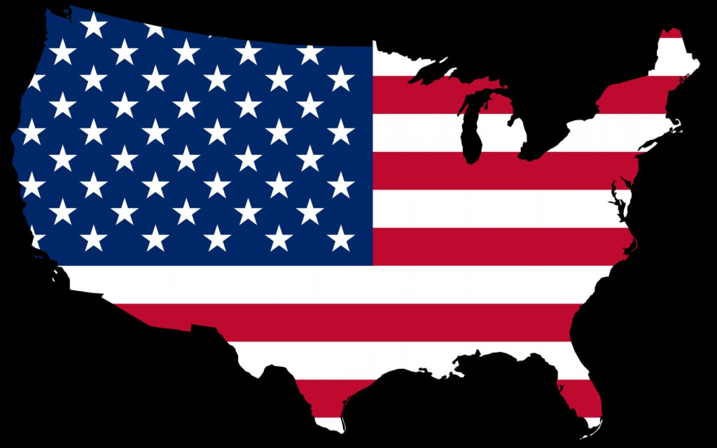Map American Flag Wallpaper