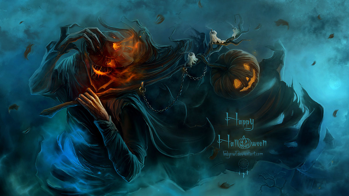 Android Phones Halloween 2015 Wallpaper