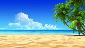3D Beach Cartoons Wallpaper HD