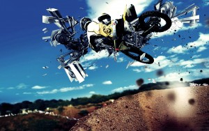 Abstract Motocross Sports Wallpaper