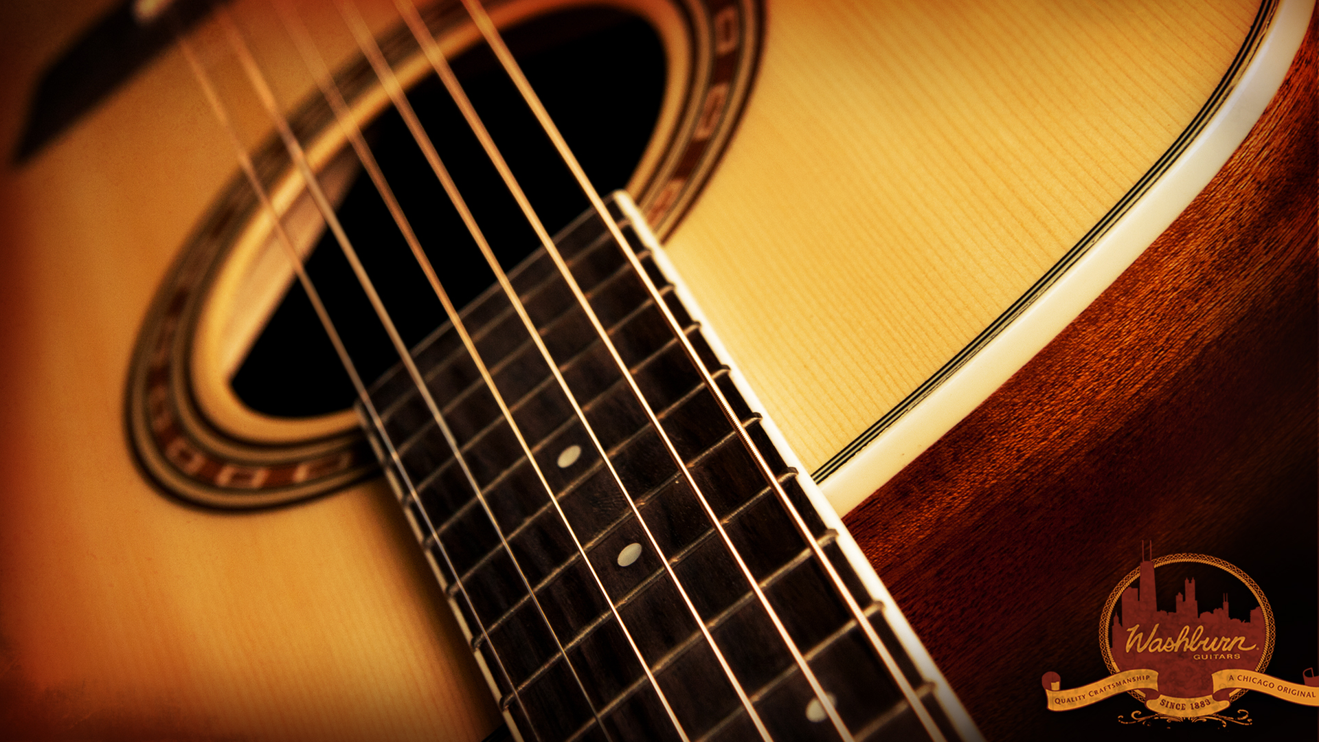 Acoustic Guitar Wallpaper 1920×1080