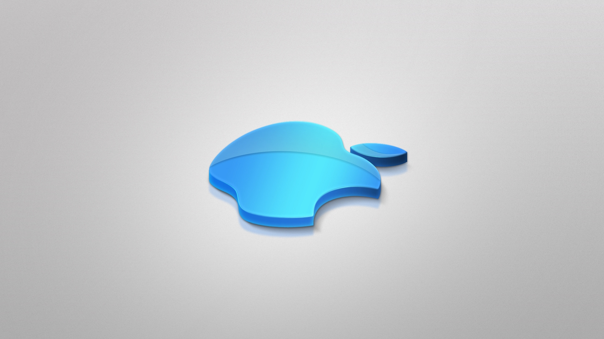 Apple Blue 3d 1080p