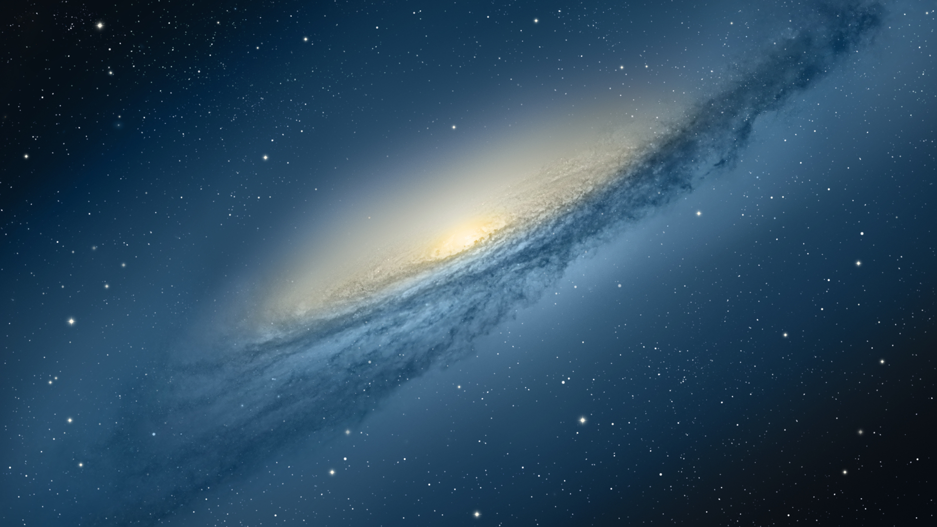 Apple Blue Galaxy Hd Wallpaper