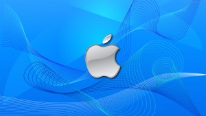 Apple Blue Hd Background