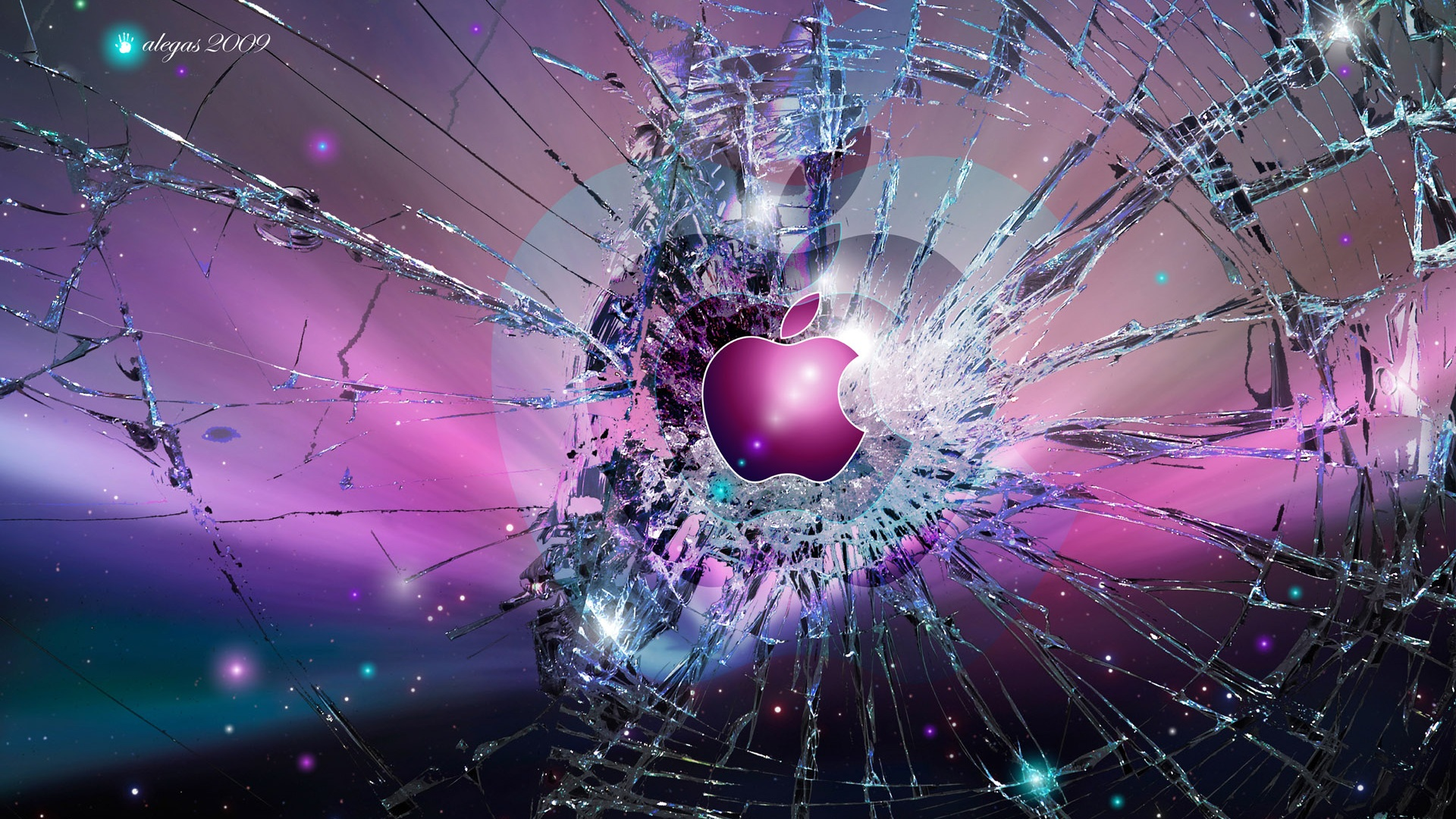 Apple Broken Screen Hd Wallpaper