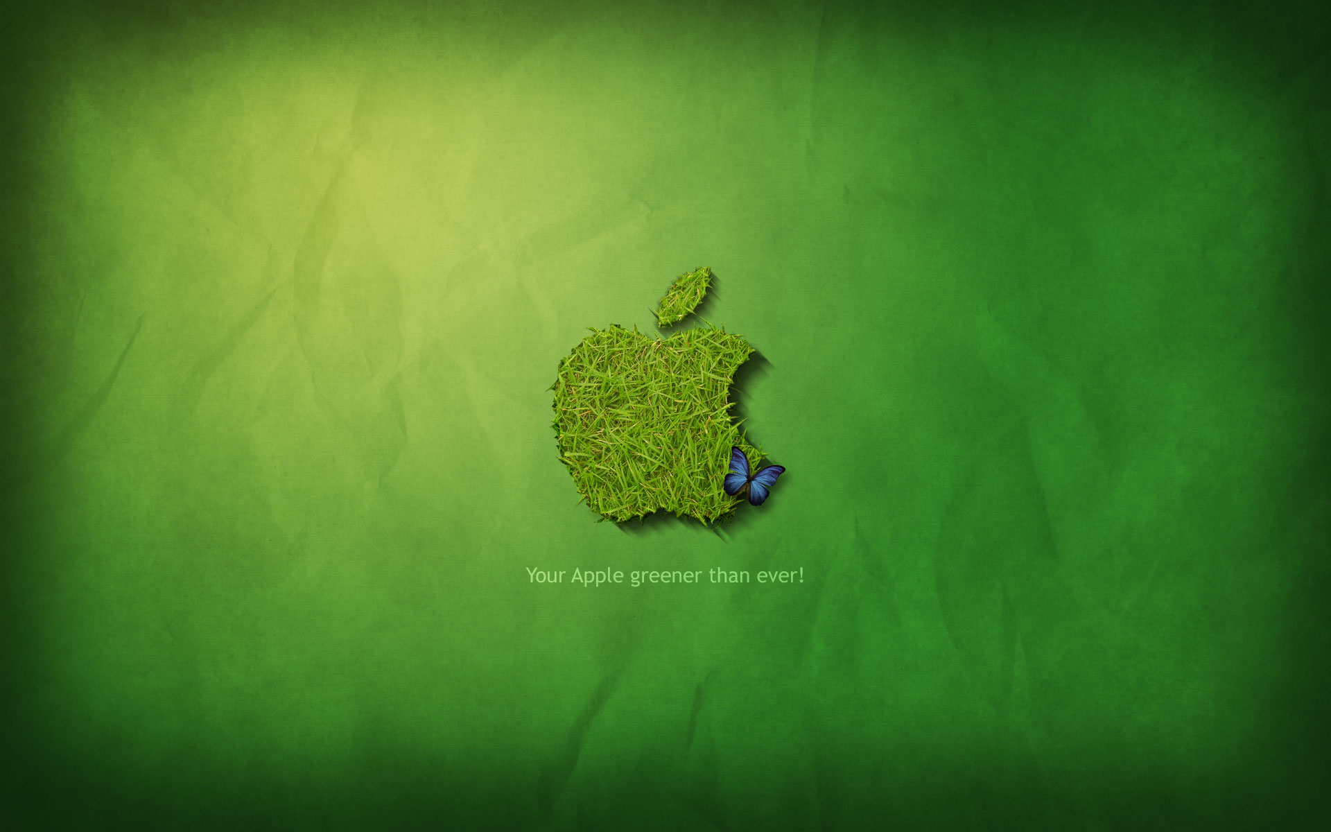 Apple Grass Background