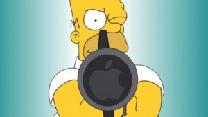 Apple Homer Simpson Wallpaper