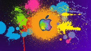 Apple Ink Splash Wallpaper
