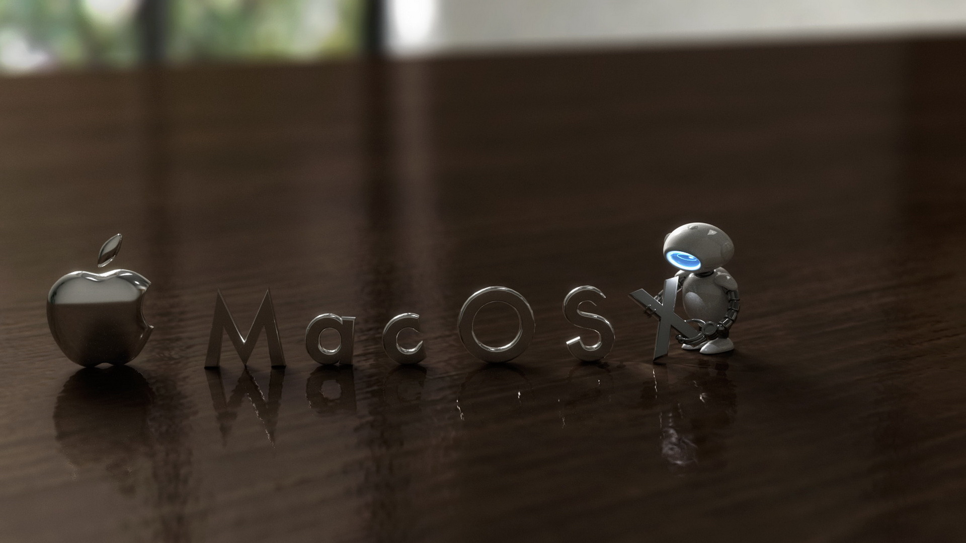 Apple Mac Os Robot Wallpaper