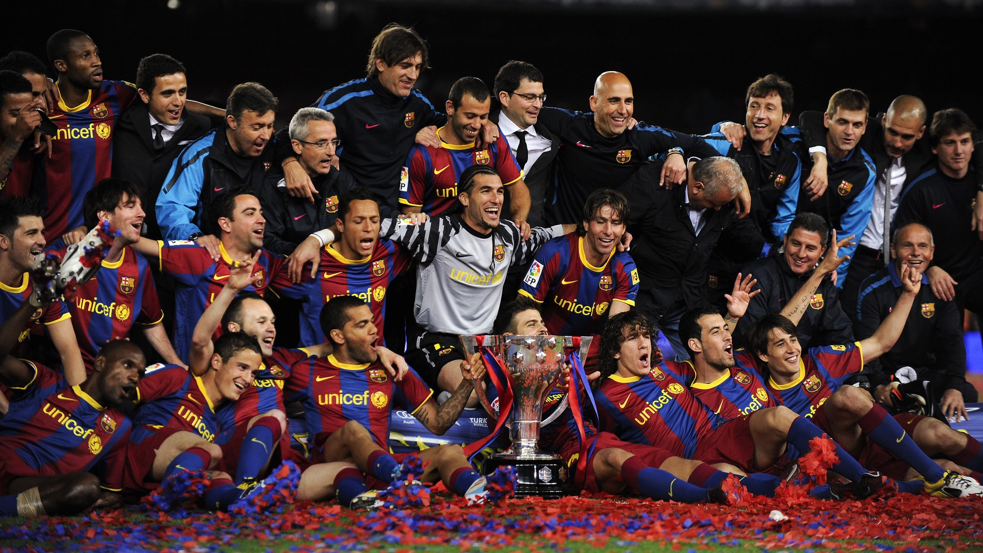 Barcelona Congratulation Hd Wallpaper