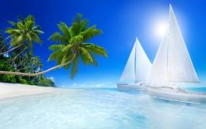 Beach Wallpaper Ship