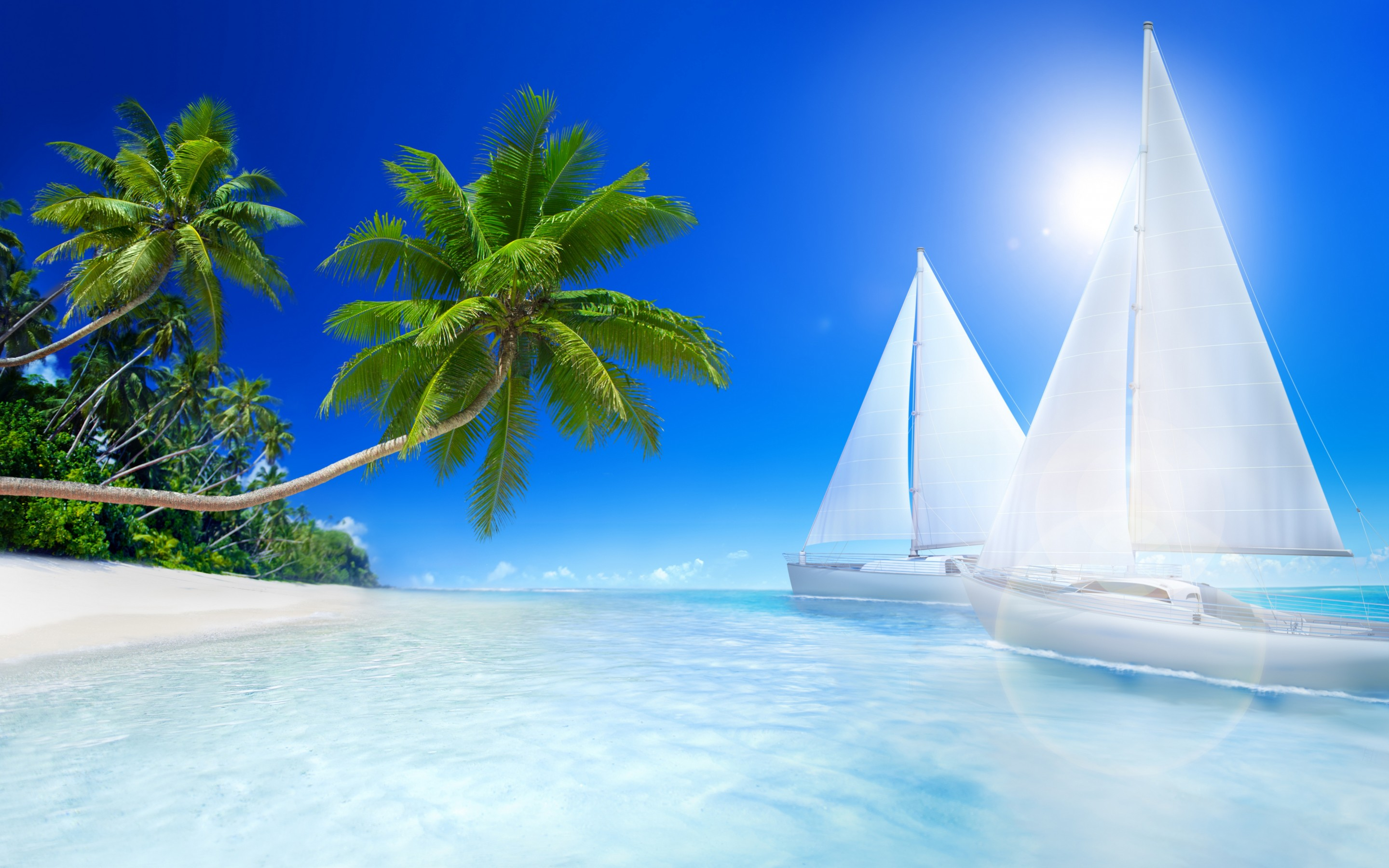 Beach Wallpaper Ship