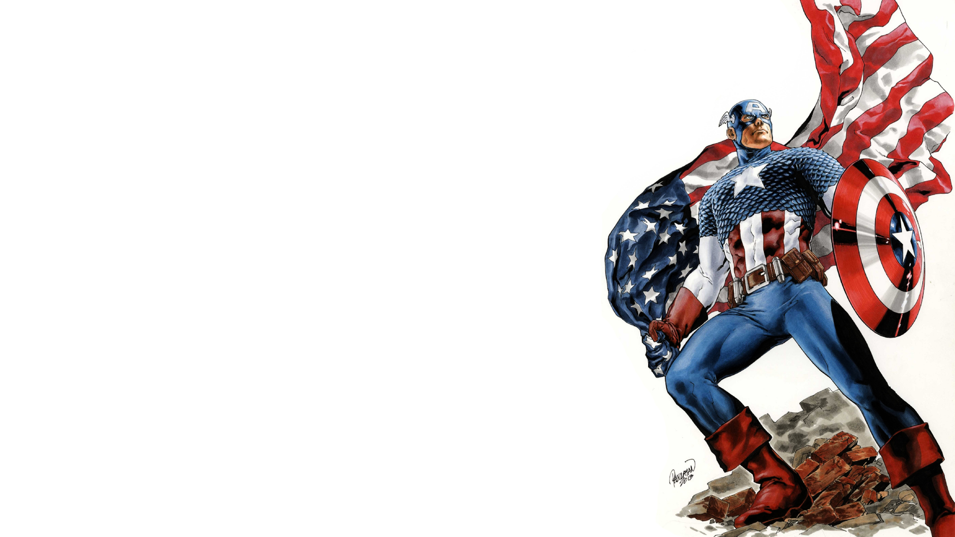 Captain America HD Desktop Background