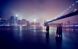 City River Wallpaper Night