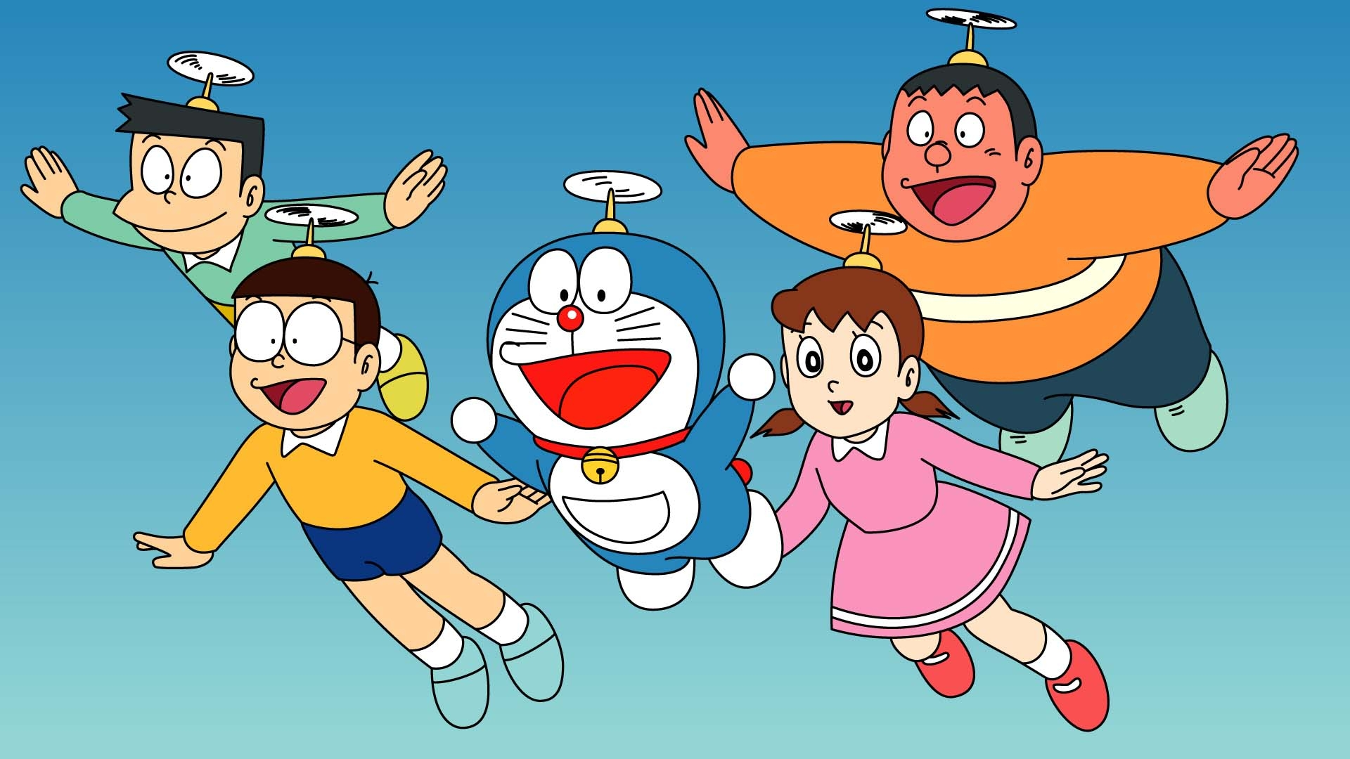Doraemon And Family Wallpaper HD