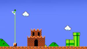 Finish Super Mario Wallpaper