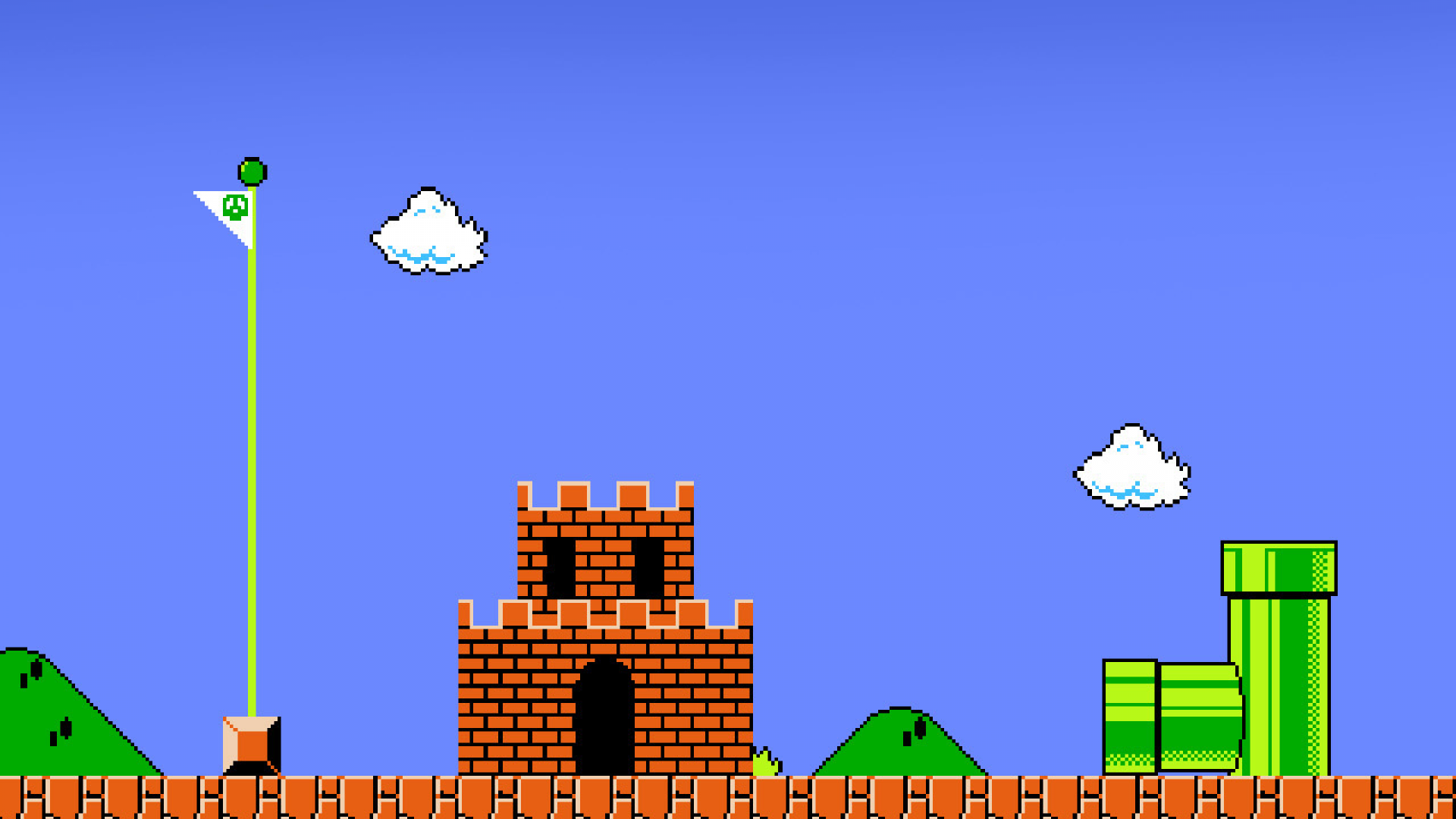 Finish Super Mario Wallpaper
