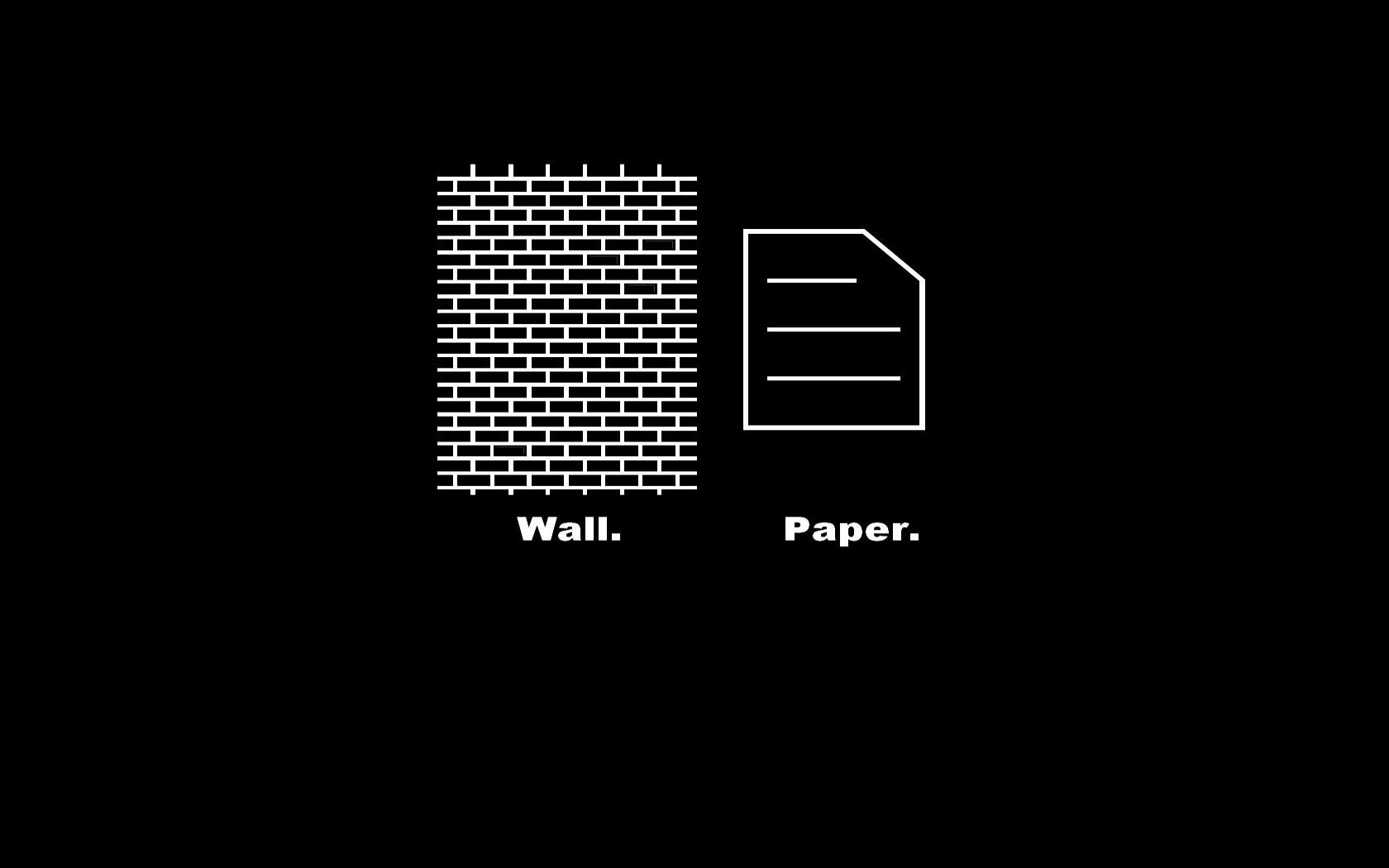 Funny Wall And Paper Image