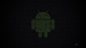 Green Black Android Logo Wallpaper