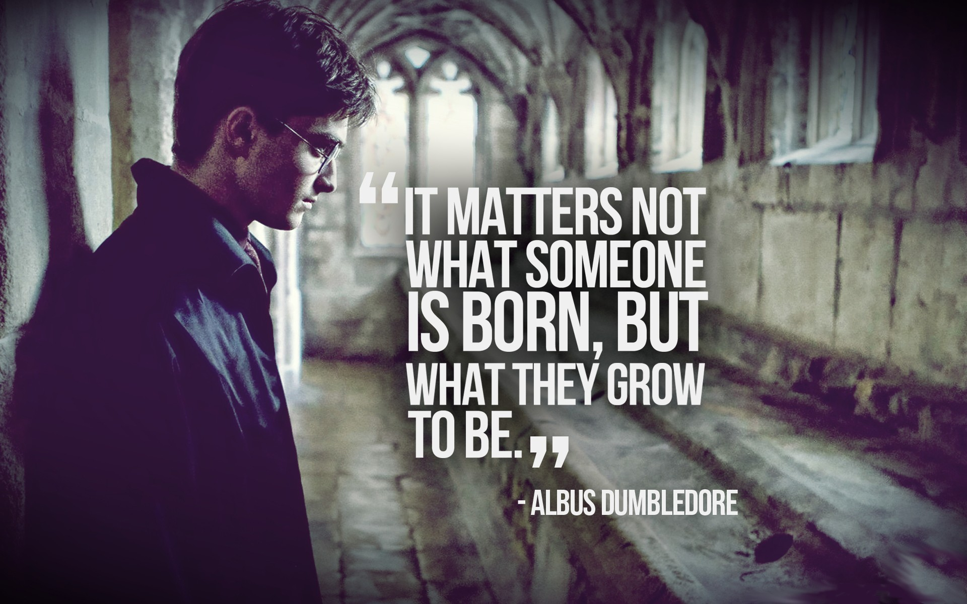 Harry Potter Quotes New Wallpaper PC