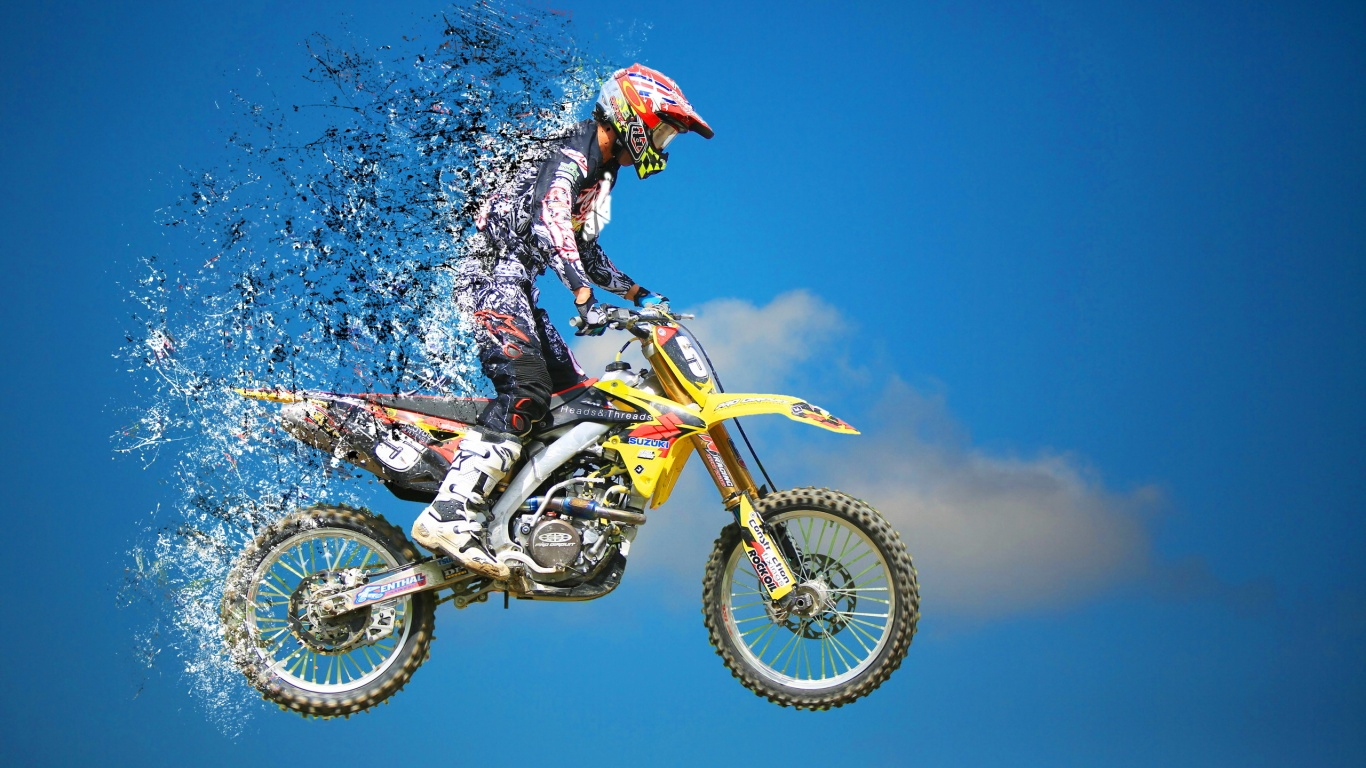 Jump Motocross Sports HD Image