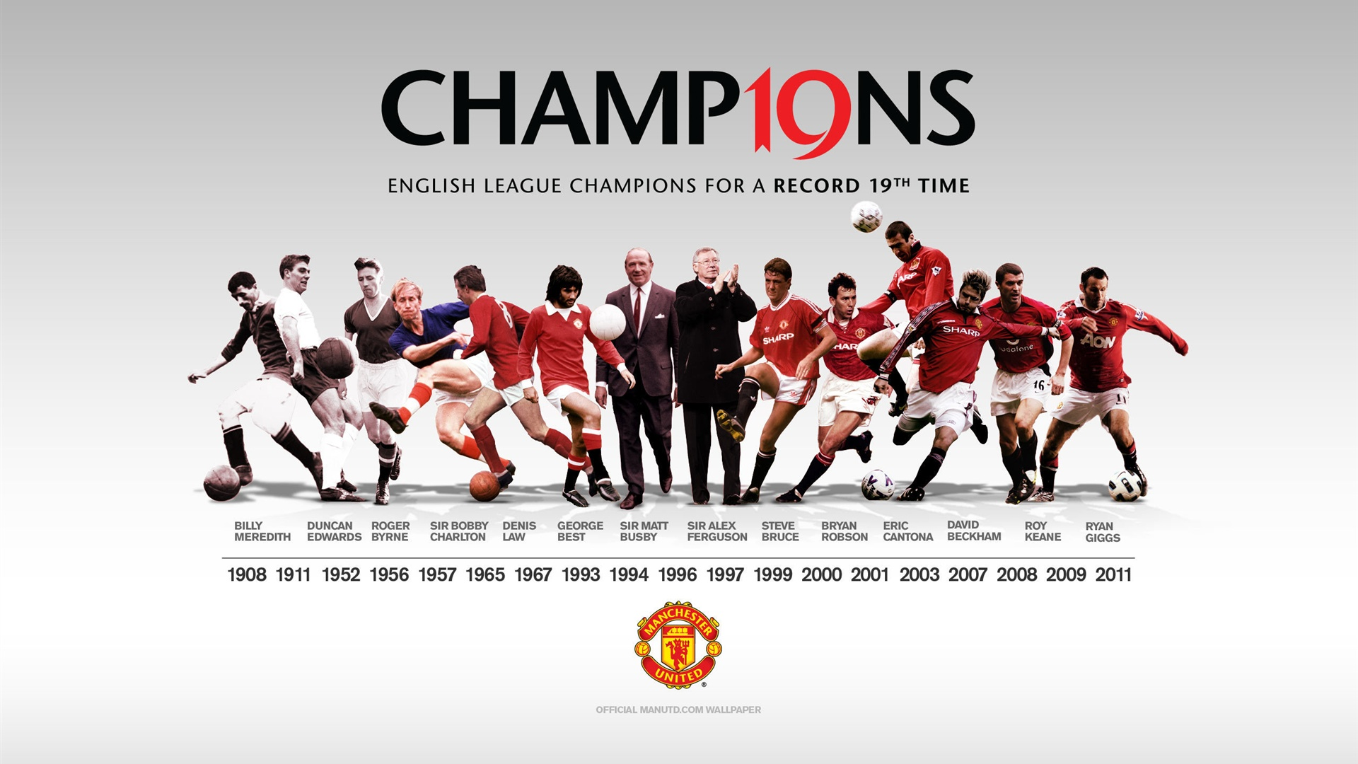 Manchester United Champions 1920×1080