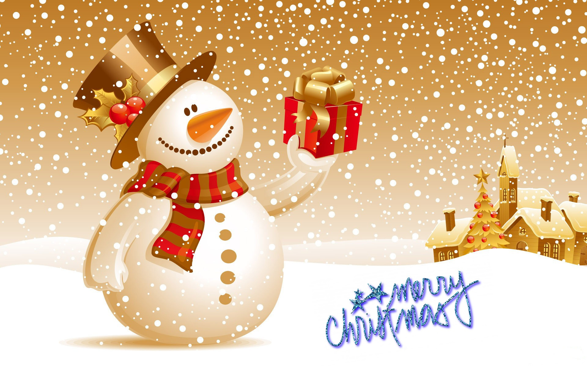 Merry Christmas Wallpaper Widescreen New