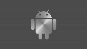 Metal Logo Android Wallpaper