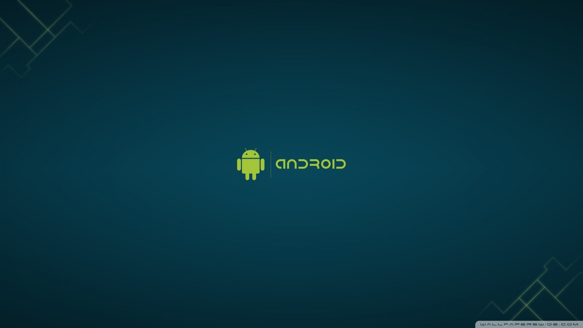 Minimalist Android Blue Hd Background