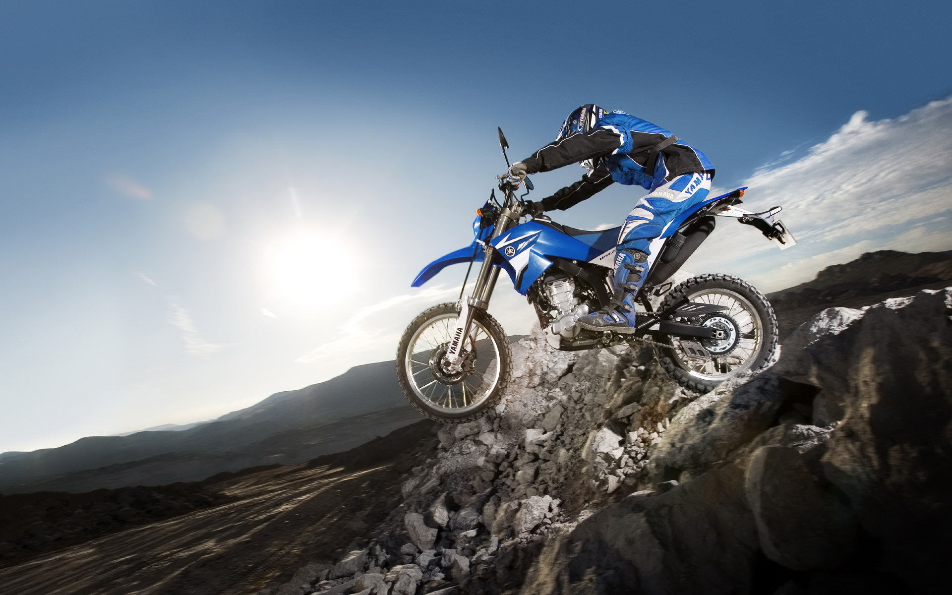 Mountain Area Motocross Sports Wallpapers