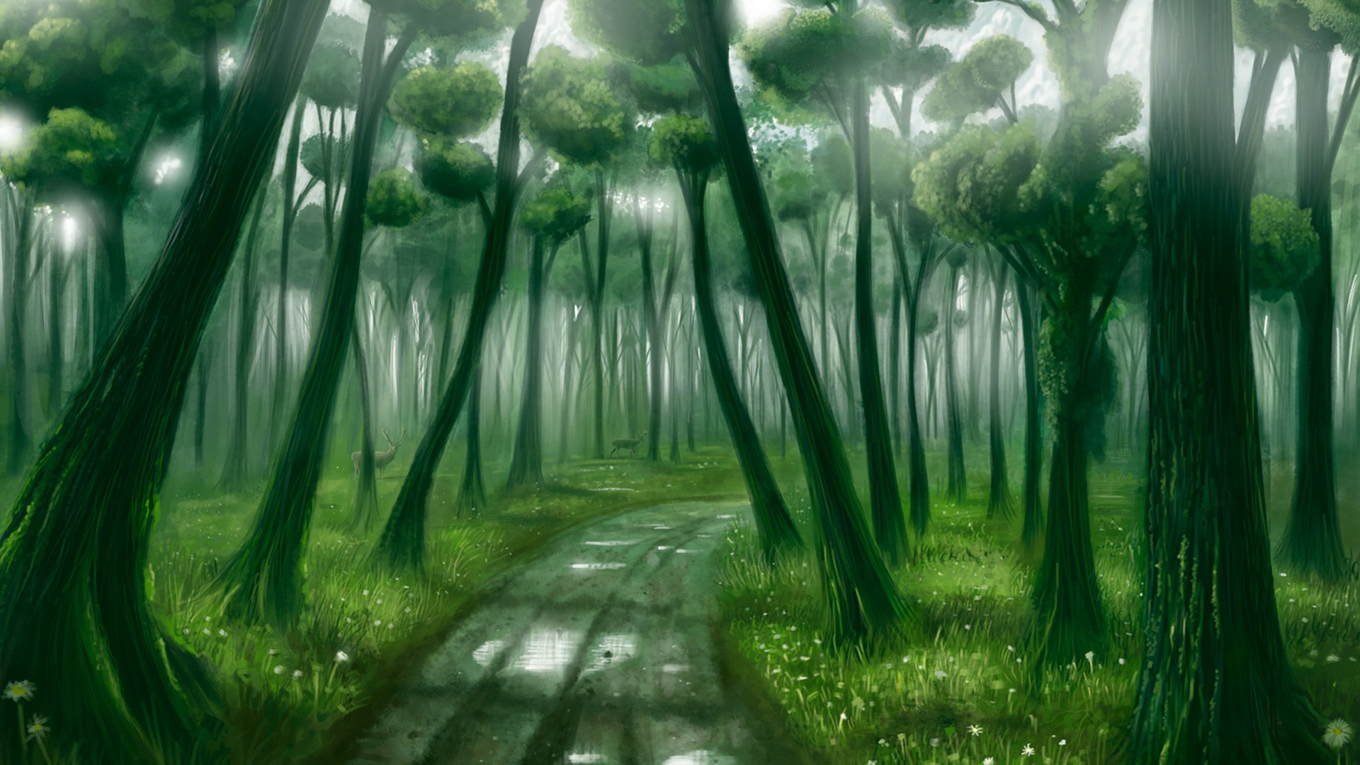 Pathway Fantasy Wallpaper