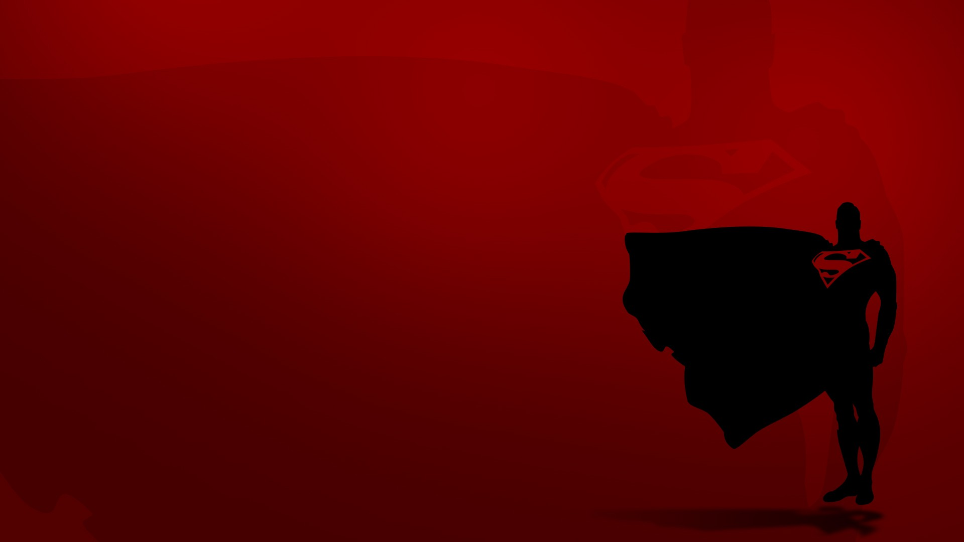 Red Background Superman Wallpaper
