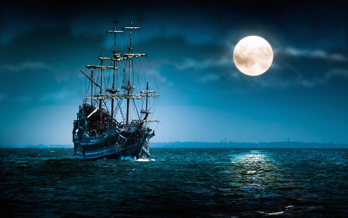 Ship 3D Wallpaper Widescreen