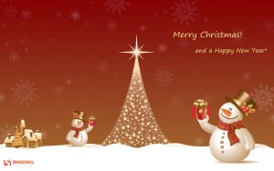 Snow Tree Merry Christmas Wallpaper
