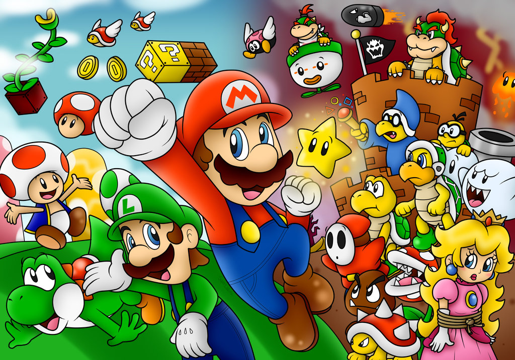 Super Mario Wallpaper 3D