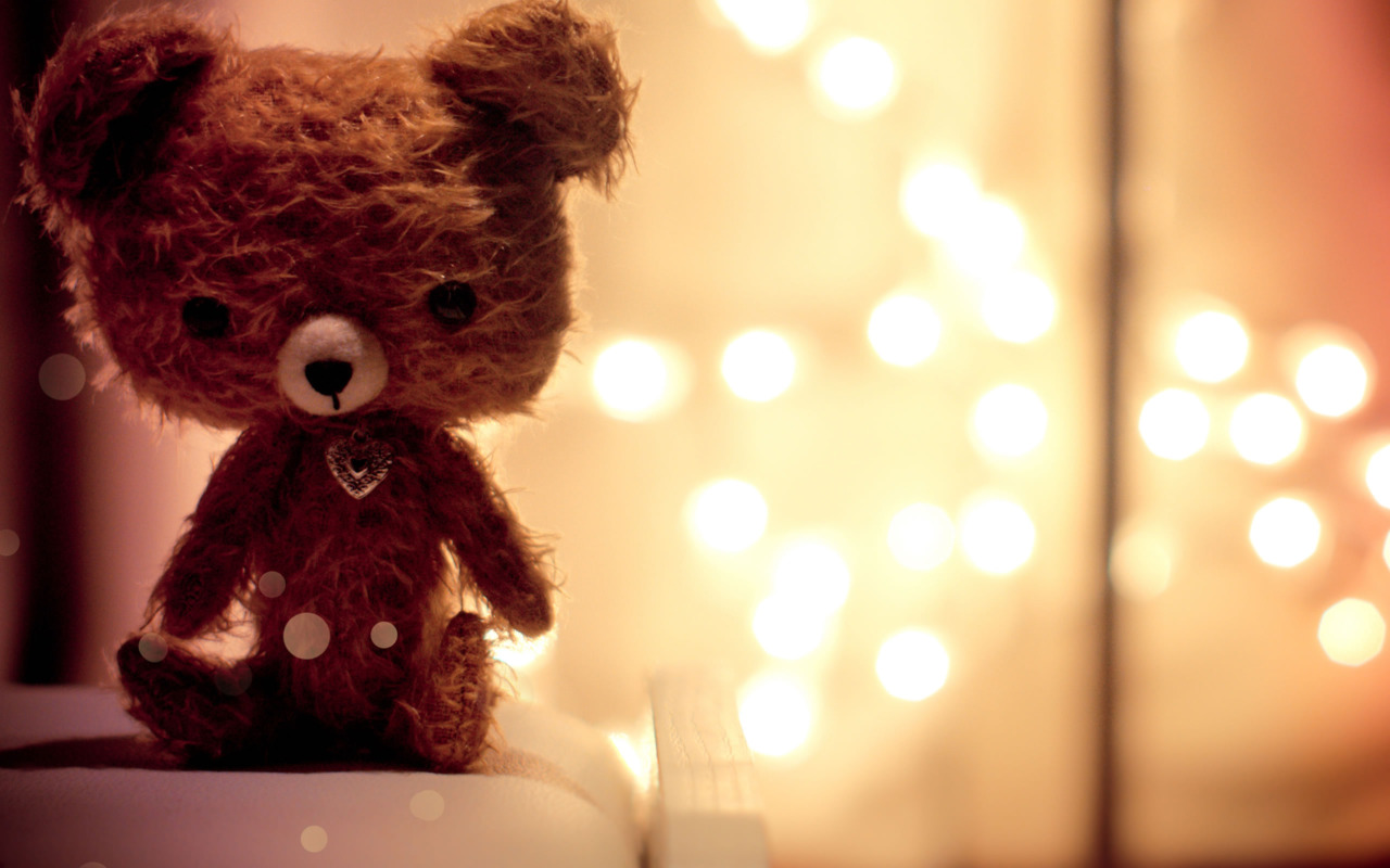 Teddy Bear Brown Wallpaper
