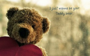 Teddy Bear Text Wallpaper HD