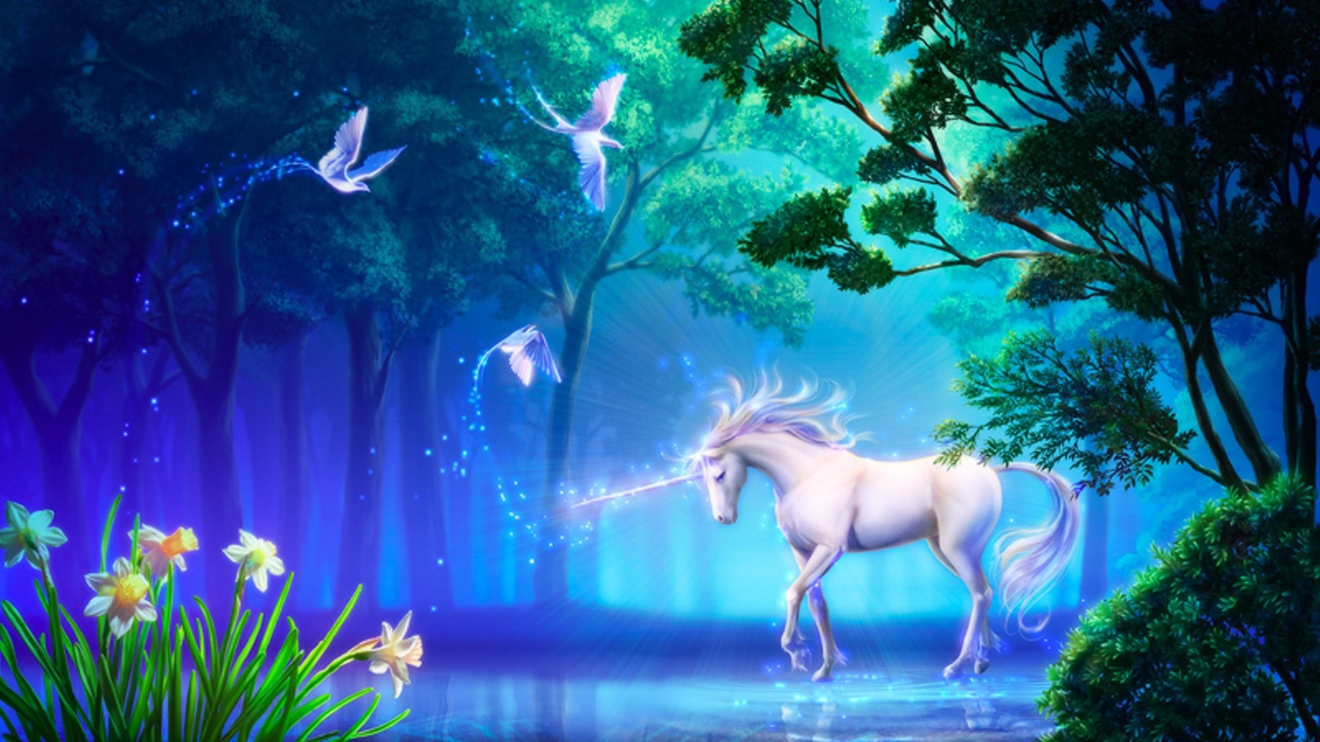 Unicorn Fantasy Wallpaper