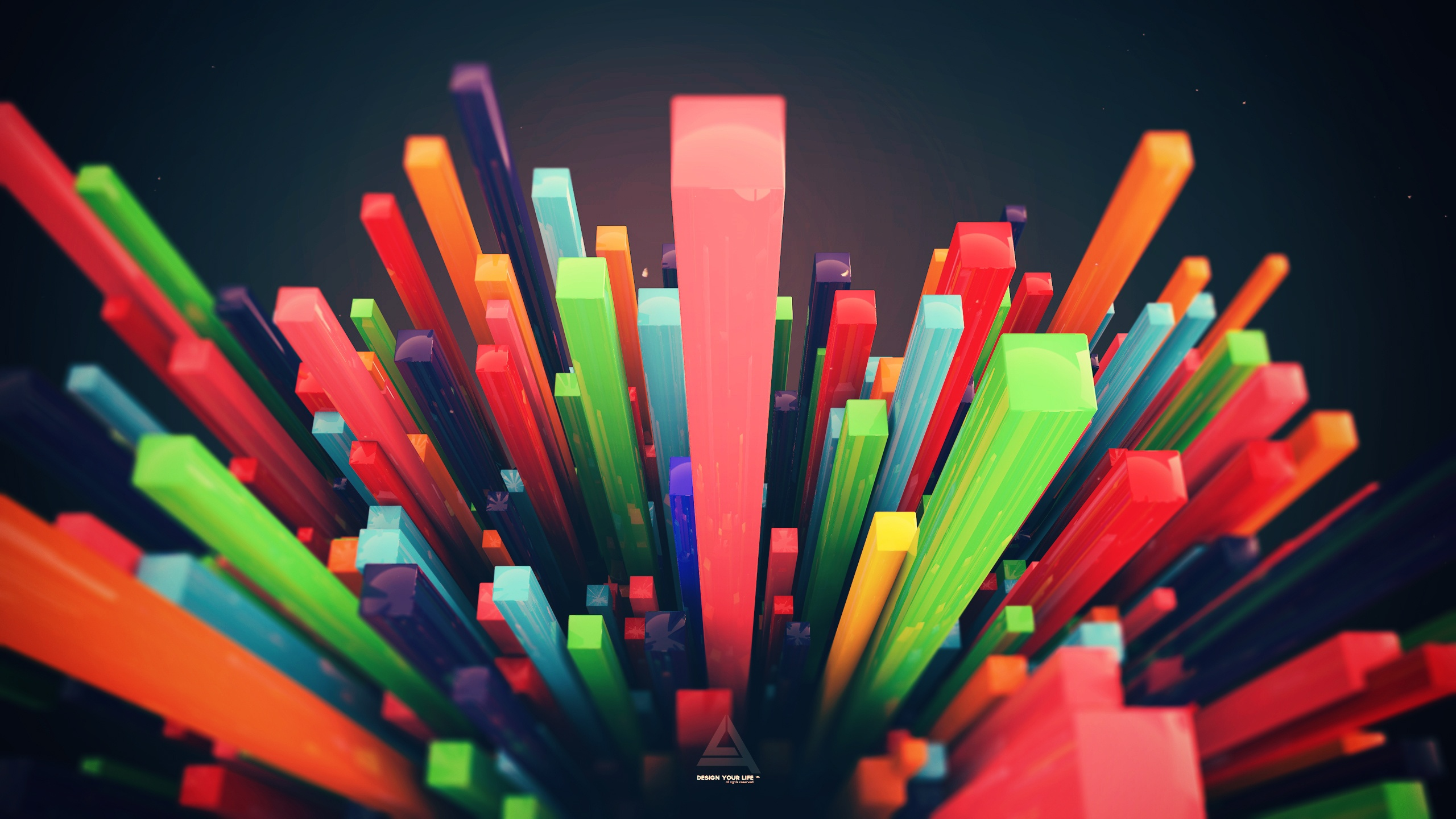 3d Bars Wallpaper