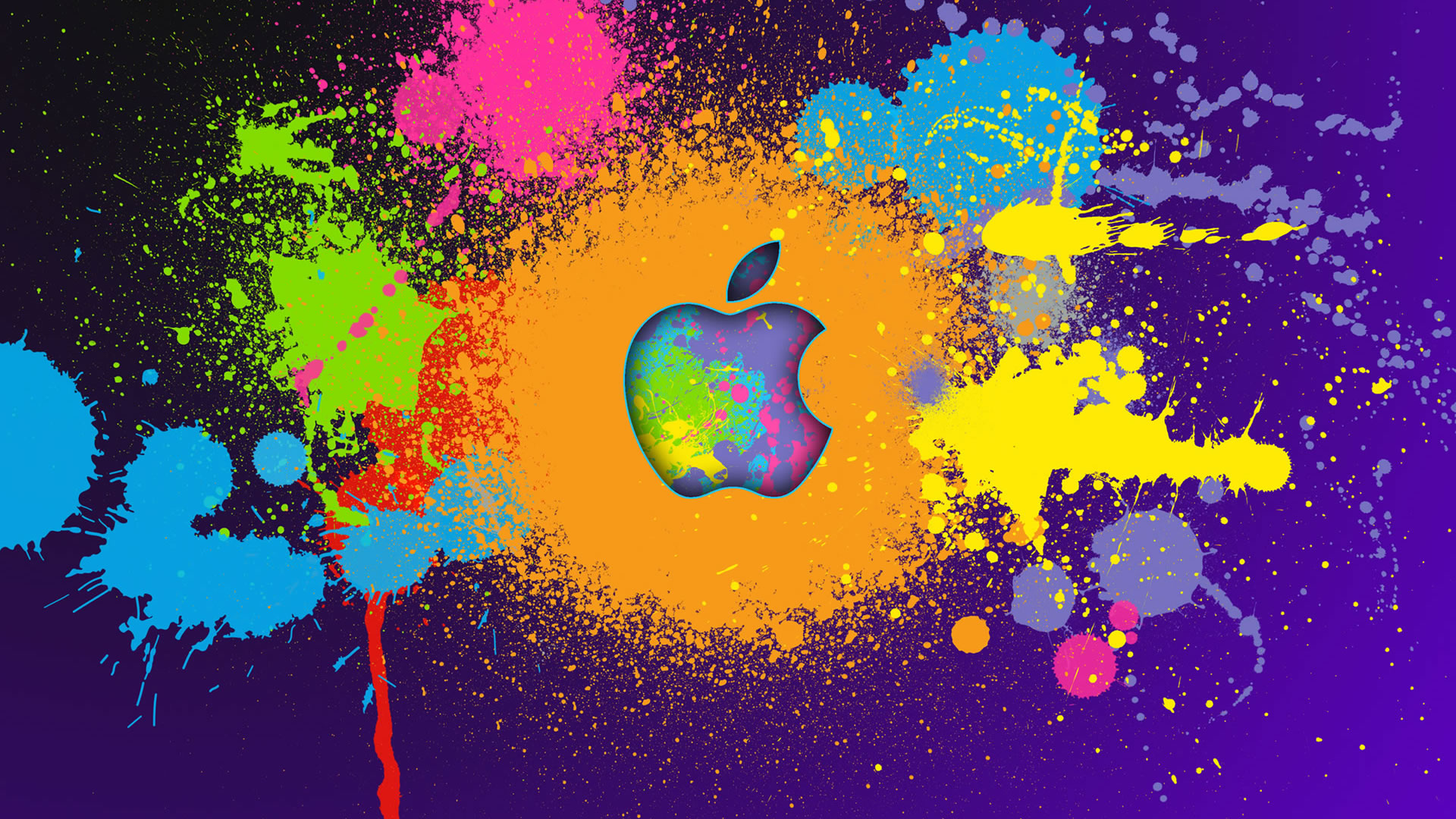 Amazing Paint Apple Wallpaper