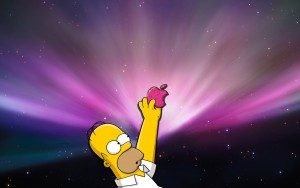 Apple Simpson Wallpaper