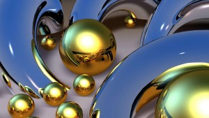 Gold Balls 3d Wallpaper