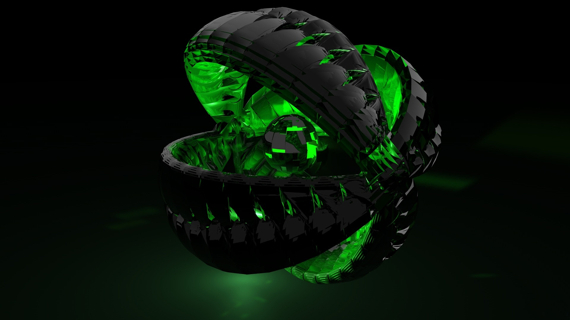 Green Ball 3d Wallpaper
