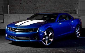Chevrolet Camaro Blue Wallpaper