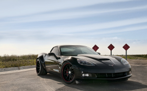 Corvette Stingray Black Wallpaper HD